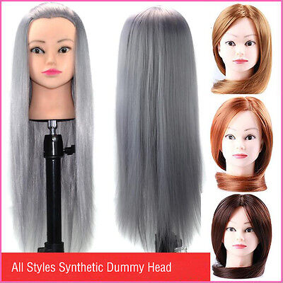 Female Model Synthetic Hair Training Hairdressing Cosmetology Practice Doll Head