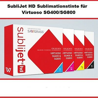 Sublimation/Sublimationstinte SubliJet HD für Virtuoso SG 400/SG 800  Set. CMYK