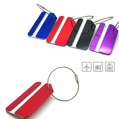 New Metal Luggage Tag Address Name Holder Secure ID Label Travel Bag Baggage