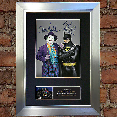 BATMAN AND JOKER No2 Signed Autograph Mounted Reproduction Photo A4 Print 501