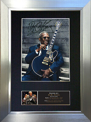 B B KING Signed Autograph Mounted Photo Repro A4 Print 565