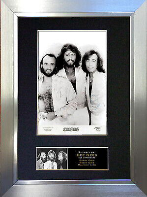 BEE GEES Signed Autograph Mounted Photo Reproduction A4 Print 209