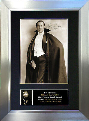 BELA LUGOSI Dracula Signed Autograph Mounted Reproduction Photo A4 Print 311