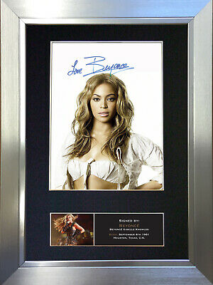 BEYONCE No2 Signed Autograph Mounted Photo Reproduction A4 Print 440