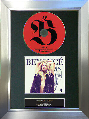 BEYONCE Signed Autograph CD & Cover Mounted Print A4 1