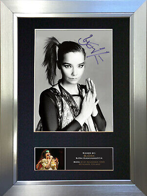 BJORK Signed Autograph Mounted Photo Reproduction A4 Print 528
