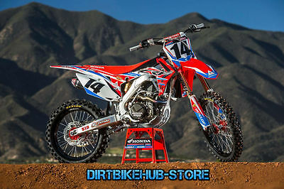 Honda Full Plastics and HRC Graphics Decals Kit CR CRF 125 250 450 All Years
