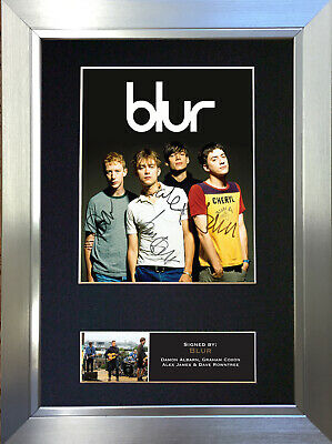 BLUR Signed Autograph Mounted Photo Reproduction A4 Print 352
