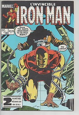 IRON MAN #137/138 french comic français EDITIONS HERITAGE