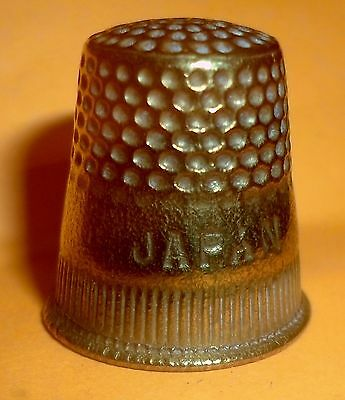 Vintage Golden Metal Thimble, Japan