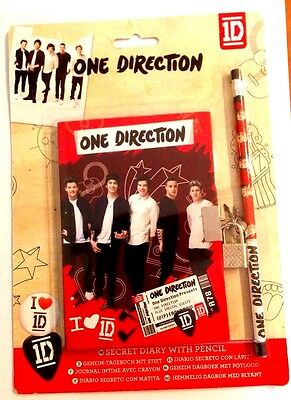 One Direction Set Secret Diary with Pencil