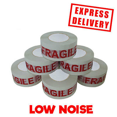 Parcel Tape Fragile 50Mm X 150M Low Noise Packing Large Extra Strong 24Hr