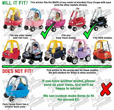 Customised NUMBER PLATE for Little Tikes Cozy Coupe kids ride on toy car truck