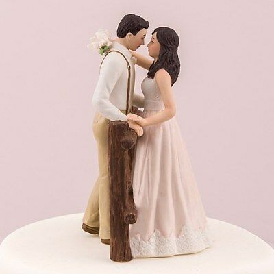 Rustic Couple Wedding Cake Topper Bride and Groom Personalized Weddingstar