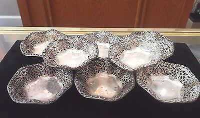 Set of 8 STERLING Silver Candy Dishes