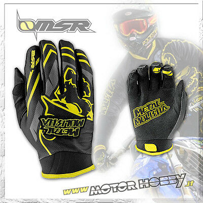 Guanto Cross Enduro Msr Metal Mulisha Scout Nero Giallo Taglia Xl