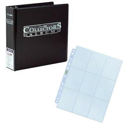 ULTRA PRO 3 Inch Ring Binder - Album Folder - With 50 Silver 9-Pocket Pages