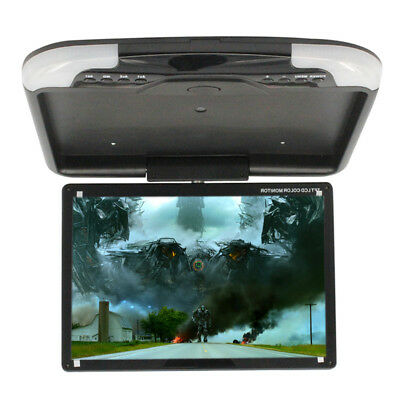 13 Inch Car Roof Mount Monitor LCD TFT Overhead Flip Down Digital Wide Screen UK