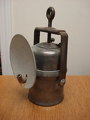 vintage Miner CARBIDE LAMP from COPIAPO CHILE (MINING ACCIDENT 2010)