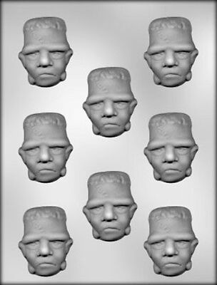 Frankenstein Monster Face Bites Chocolate Candy Mold Diy Halloween Favors