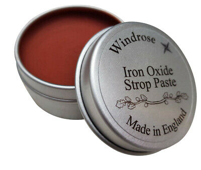 Iron Oxide Paste 0.1 micron for Leather Strop Sharpening Straight Razors