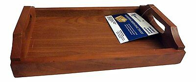Wooden Tea Tray Serving Tray with handles 30CM X 21CM X 6CM Excellent Quality.