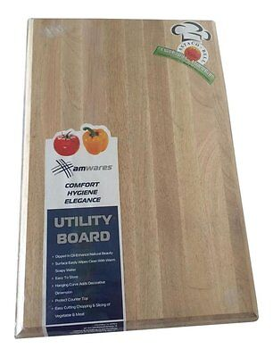 Wooden Cutting board Chopping Chef board Block REDUCED Large 38cm x 29cm x 3 cm