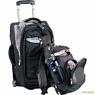 High Sierra® Business Travel 22 Wheeled Carry-On & Backpack Luggage DayPack