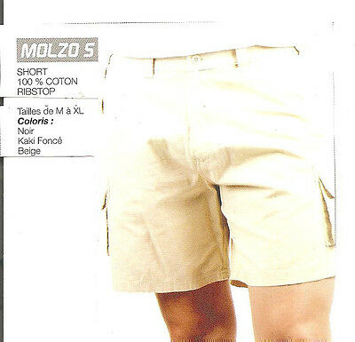 Short Homme  Marque : Oaks Valley 100 % Coton Ribstop 5 Poches + Fermeture A Zip