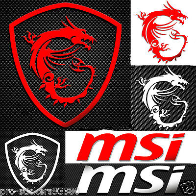 MSI GAMING G SERIES X DRAGONS STICKERS autocollant metal silver Aufklebe logo