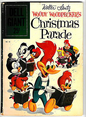 DELL GIANT #40 (VG+) WOODY WOODPECKER'S CHRISTMAS PARADE! Silver-Age Issue! 1960