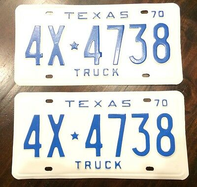 1970 Texas Truck License Plates Restored