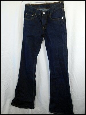 Original Australian Made Levi's Dark Blue Denim 450 Flared Jeans W28 Low Rise