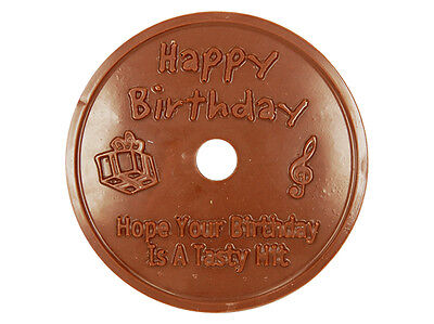 Edible Chocolate Happy Birthday CD - Hope Your Birthday Is a Tasty Hit - Gift!