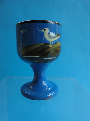 VINTAGE TORQUAY BARTON POTTERY EGG CUP SEAGULL DESIGN c1930