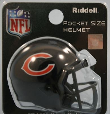 NEW NFL American Football Riddell SPEED Pocket Pro Helmet CHICAGO BEARS