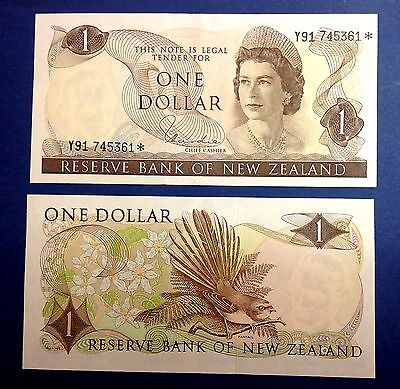New Zealand Replacement Star Banknote's Type 1 $1 Hardie Y91* series - EF/aUNC.