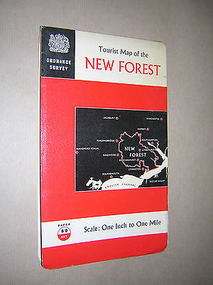 Ordnance Survey Map. New Forest. 1966. One Inch. Folding. Paper. Colour.
