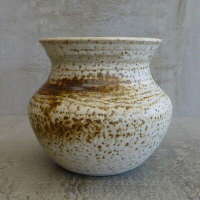 Handcrafted Pottery Jar or Vase Specked Australian? Impressed potters mark