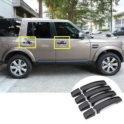 Black Car Door Handle Cover Trim 8pcs For Land Rover Discovery 4 LR4 2010-2016