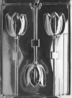 3 Tulips On A Stick Chocolate Moulds ..... Foodsafe ... #F037