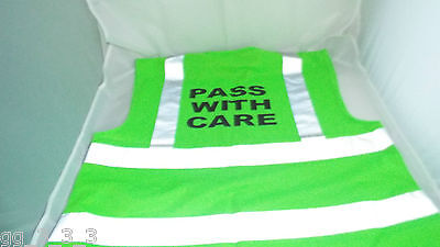 NEW Green Horse Riders Hi Vis Waistcoat Style Tabard Vest PASS WITH CARE