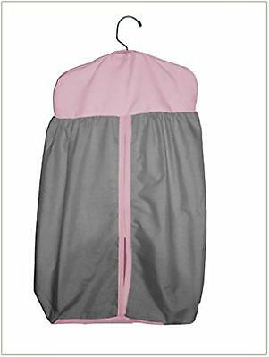 Baby Doll Bedding  Reversible Diaper Stacker, Grey/Pink, New, Free Shipping