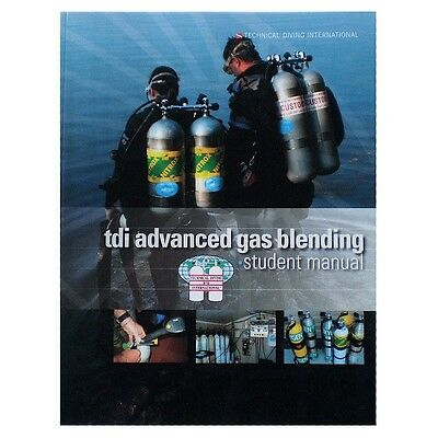 TDI Advanced Gas Blender Book for Scuba Diving - NEW