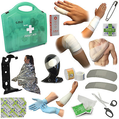 Large 1-100 Employee Factory Medical Emergency BS8599 First Aid Kit 210 Pieces