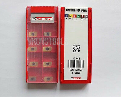 10Pcs Duracarb APMT1135PDER DP5320 Carbide Inserts for Indexable Milling Tools