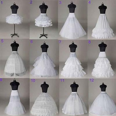 New White Wedding Ball Gown Crinoline Bridal Dress Petticoat Skirt Underskirt