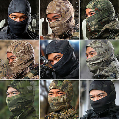 21 Colors Multicam Tight Camo Balaclava Outdoor Tactical Hunting Full Face Mask