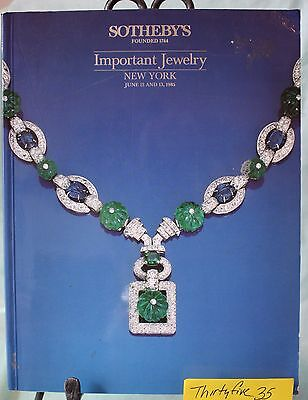 Sothebys IMPORTANT JEWELRY New York, June 12 13, 1985 443 Lots RARE OLDER FIND