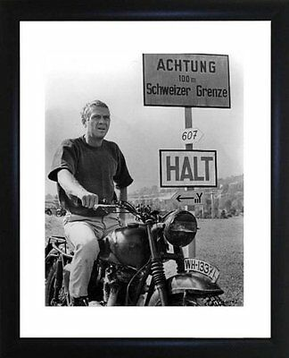Steve McQueen Great Escape Framed Photo